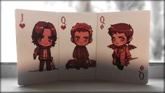 Supernatural cards<<< OH MY GAWD CAS AND DEAN ARE THE QUEENS!