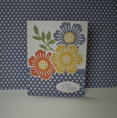Love these flowers.  Mixed Bunch stamp set (SU).