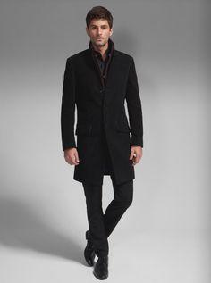 Wool coat with fur trim By Shanghai Tang