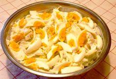 Joghurtos krumplisaláta tojással Potato Recipes, Potato Salad, Cabbage, Potatoes, Vegetables, Ethnic Recipes, Food, Diet, Potato