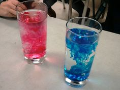 Teach diffusion!!  Take a glass of ice cold water and a glass of boiling water, let them sit so they are still, and add 3-4 drops of food colouring.  Watch how the diffuse at different rates.  Great for lessons on the particle model too!
