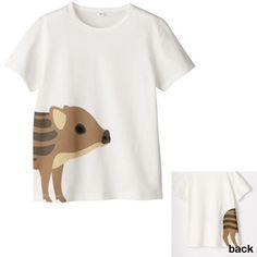 黒目がち。うりぼうプリントTシャツ(NETストア限定)  | 無印良品ネットストア