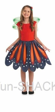 Red Woodland Fairy Fancy Dress Costume Fun Shack