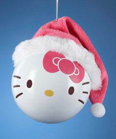 Look at this Hello Kitty Santa Hat Ornament on #zulily today!