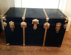 Repurposed Gems: An antique Steamer Trunk