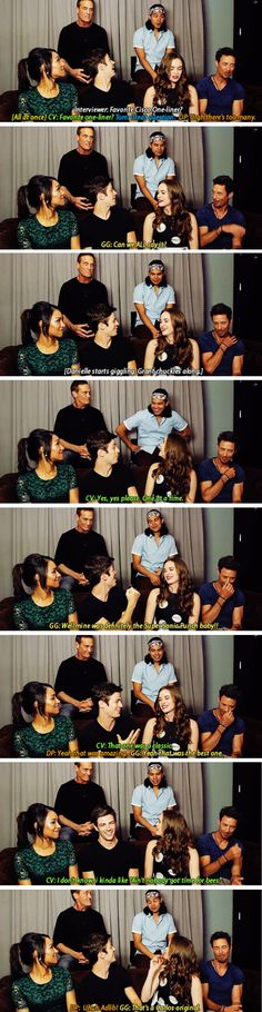 Team Flash (but mostly the hyper Starlabs trio lol) sharing their favorite Cisco one-liners. #TheFlash #SDCC 2015 #CWSDCC