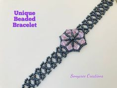 How to make beaded bracelet - Donate People Beaded Bracelet Patterns, Jewelry Patterns, Beading Patterns, Beaded Jewelry, Beaded Bracelets, Embroidery Bracelets, Loom Patterns, Loom Beading, Making Bracelets With Beads