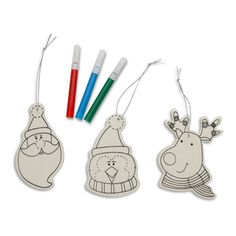 Buy Decorate Your Own Wooden Christmas Decoration - Paint / Colour Bauble Craft Set in our Christmas Shop. Christmas Tree Decorations Sets, Christmas Fair Ideas, Christmas Crafts For Kids, Christmas Baubles, Christmas Shopping, Arts And Crafts, Handmade Gifts, Etsy, Lei
