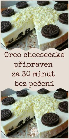 Czech Recipes, Oreo Cheesecake, Cheesecakes, Food And Drink, Vegetarian, Gardening, Candy, Cookies, Breakfast