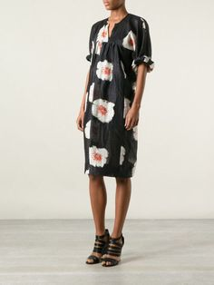 BNWT ISABEL MARANT ETOILE 'rany floral print dress' linen silk black long 34 #IsabelMarantEtoile #Casual