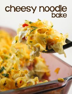 Easy Cheesy Noodle Bake Recipe — Pip and Ebby Pasta Dishes, Food Dishes, Main Dishes, Dinner Dishes, Side Dishes, Great Recipes, Favorite Recipes, Easy Chicken Pot Pie, Dinner With Ground Beef