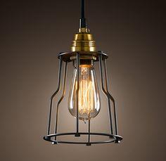 Lampe im angesagten Industriedesign / lamp, pendant, industrial design by Danis-Licht-und-Dekokiste via DaWanda.com