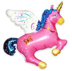 Magical Unicorn Mylar Balloon, Pink