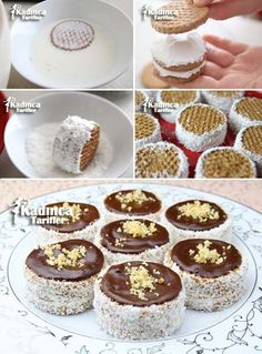 Cookie Recipes, Dessert Recipes, Biscuit Cake, Biscuit Recipe, Dessert Decoration, Pie Dessert, Turkish Recipes, Mini Desserts, Mini Cakes