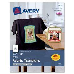 avery personal creations inkjet iron on dark t shirt transfers white five