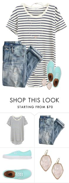 """2•6•17"" by wiinter-blue ❤ liked on Polyvore featuring Splendid, J.Crew, Vans and Kendra Scott"