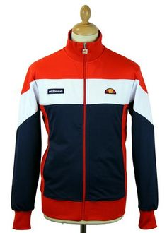 Caprione ELLESSE Retro 70s Panel Track Top in dress blue and flame red. A cool Retro 1980s casuals vibe with a dash of Indie Britpop inspiration: http://www.atomretro.com/product_info.cfm?product_id=15123 #ellesse #caprione #caprionetracktop #tracktop #trackjacket #menswear #mensfashion #menswearblog #mensfashionblog #atomretro