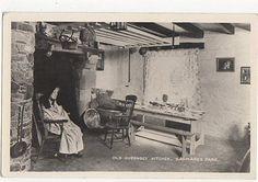 Old Guernsey Kitchen Saumarez Park RP Postcard 0834