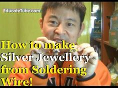 How to make DIY Jewelry with Non-Lead Solder Wire Silver Jewellery Penda...