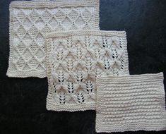 Organic Cotton Spa Cloths Set 2 - Knitting Patterns and Crochet Patterns from KnitPicks.com