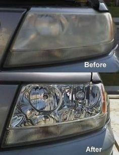 Make your car younger by cleaning the headlights! Easy and cheap homemade #diy solution.