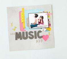Music Scrapbook Layout . Make It Now in Cricut Design Space