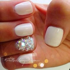 white Nail Art Ideas for summer 2015