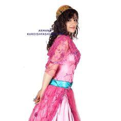 Gorgeous pink Kurdish Dress.