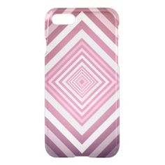 Modern Pink & White Gradation Squares iPhone 8/7 Case - simple clear clean design style unique diy