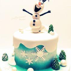 Kindertaarten meisjes - Juffrouw taart winsum Olaf, Cake Decorating, Pixar, Desserts, Disney, Food, Everything, Pixar Characters, Meal