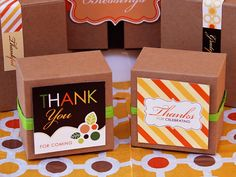 Give thanks to your guests. #thanksgiving #favors