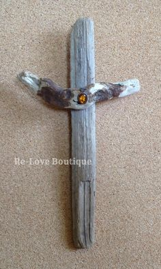 """The Old Rugged Cross"" is lovingly made from discarded wood and broken jewelry.  It is a reminder that Jesus died for our sins when we were discarded and broken.  Each piece of jewelry had been reclaimed and is ""Fit for a KING"".  A recent trip to the Mendocino coast was the perfect opportunit..."