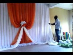 how design a back drop Wedding Draping, Wedding Stage Design, Wedding Reception Backdrop, Wedding Decorations On A Budget, Backdrop Decorations, Backdrops, African Wedding Theme, Royalty Baby Shower, Wedding Party Games