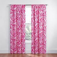 Eclipse Kids Safari Blackout Window Curtain Panel, 84 inch, Pink