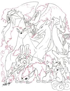 Fire Pokemon -Line- by TheRaineDrop on DeviantArt Pokemon Coloring Pages, Cool Coloring Pages, Animal Coloring Pages, Coloring Pages For Kids, Coloring Books, Fire Pokemon, Cute Pokemon Wallpaper, Pokemon Party, Pokemon Pictures