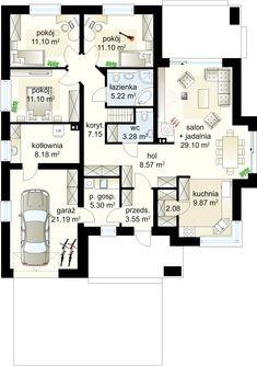 Projekt domu Selene VIII 115,60 m² - Domowe Klimaty Home Design Plans, My Dream Home, House Plans, Floor Plans, Woodworking, House Design, Flooring, How To Plan, Houses