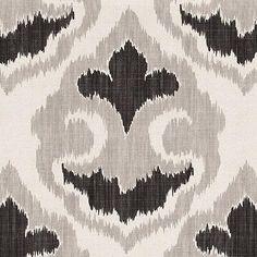Ikat+Design+Wallpaper   - Florentina Ikat Gray Fabric By The Yard   Ballard Designs - ikat ...