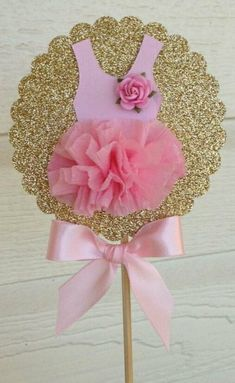 Birthday Decoration Shabby Chic Decorative Wand Ballet Party Cake Topper for Birthday Party Ballerina - Shopkins Party Ideas Deco Baby Shower, Fiesta Baby Shower, Girl Shower, Baby Shower Cakes, Ballerina Baby Showers, Ballerina Tutu, Baby Shower Princess, Ballet Tutu, Baby Party
