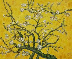 Vincent van Gogh Branches of an Almond Tree in Blossom yellow