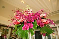 Fuchsia wedding florals by Country Bouquets Maui - Anna Kim Photography