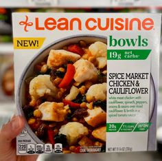 This new Spice Market Chicken and Cauliflower meal features white meat chicken, spinach, peppers, onions, and cauliflower. It's also got tons of spices and raisins for natural sweetness, all enrobed in a spicy tomato sauce. Lean Cuisine, Chicken Cauliflower, Spicy Tomato Sauce, Meat Chickens, Frozen Meals, White Meat, Healthy Eating Recipes, Raisin, Spinach