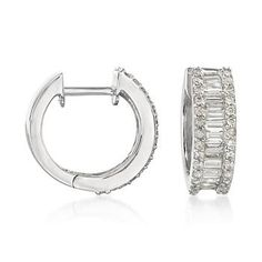 Diamond Hooped Earrings