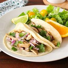 Slow Cooker Pulled Chicken Tacos - Allrecipes.com