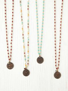 Free People Birth Stone and Zodiac Rosary at Free People Clothing Boutique