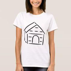 #Dog House T-Shirt - #dog #doggie #puppy #dog #dogs #pet #pets #cute #doggie #womenclothing #woman #women #fashion #dogfashion