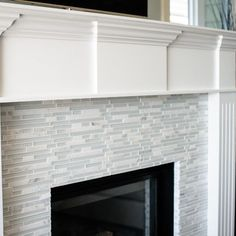Fireplaces On Pinterest Glass Tile Fireplace Tiled Fireplace And