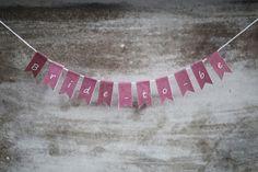 banner mini garland alphabet flags DIY pink by ilovepaperdotca