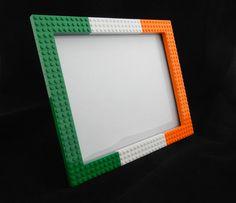 Irish flag LEGO (R) 8x10 Picture Frame Portrait or Horizontal by MRBrickDesigner on Etsy