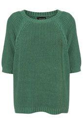 Knitted Chunky Raglan Top- TopShop.com
