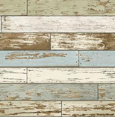 Scrap Wood Sky Blue Weathered Texture 2701-22302 wallpaper